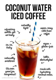 This coconut water iced coffee! Naturally sweetened with the delicious flavor (and hydrating benefits) of coconut water. Iced Coffee, Coffee Drinks, Starbucks Coffee, Smoothies Coffee, Coffee Break, Morning Coffee, Coffee Menu, Oatmeal Smoothies, Coffee Scrub
