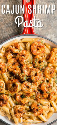 Cajun Shrimp Pasta has tender, succulent shrimp coated in a flavorful cajun seasoning and tossed with a creamy sauce and served over pasta. Cajun Shrimp Pasta has tender, succulent shrimp coated in a flavorful cajun s. Cajun Shrimp Pasta, Seafood Pasta Recipes, Shrimp Recipes For Dinner, Shrimp Recipes Easy, Shrimp Dishes, Creamy Shrimp Pasta, Healthy Shrimp Pasta, Chicken Recipes, Cajun Pasta Recipe