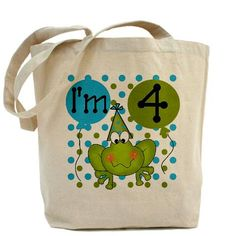 Frog I'm 4 tote bag CafePress has the best selection of custom t-shirts, personalized gifts, posters , art, mugs, and much more.{Cafepress-e8K0gFQW}