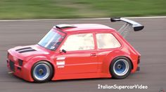Alessio Arena has taken a 1976 Fiat 126 his Grandfather left to him and turned it into a tiny track monster. He got the wild idea for the car from another Fiat project powered by a Kawasaki motorcy… Fiat 126, Fiat Cars, Car Volkswagen, Kei Car, Fiat Abarth, Small Cars, Modified Cars, Go Kart, Courses