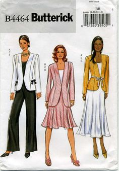 Jacket Top Skirt and Pants Sewing Pattern  by MyChickadeesNest, $5.00
