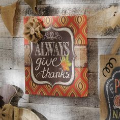 If you're looking for a fun and feminine touch for your fall decor, this Glittery Give Thanks Canvas Plaque is for you! Plus, purchase it today to save 25%!