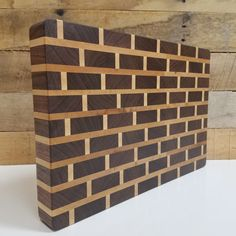 Wood Butcher Block Cutting Board. End Grain Brick by MWAWoodworks