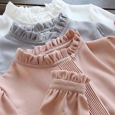 2017 new Women spring Chiffon Shirt Blouse White/gray/pink Basic Shirt Ladies Stand Collar Ruffles Blusas Femininas G187 #Affiliate