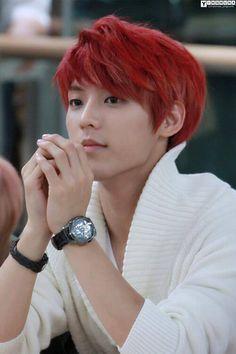 I definitely think Minhyuk is just so adorable with red hair.