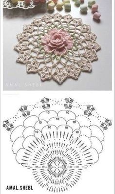 Hottest Images Crochet Doilies motif Style Although many of the doilies that you see in stores today are made from paper or machine lace there Crochet Mandala Pattern, Crochet Blocks, Crochet Flower Patterns, Crochet Diagram, Crochet Squares, Crochet Flowers, Crochet Home, Crochet Crafts, Crochet Yarn