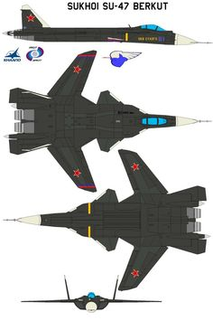 The Sukhoi (NATO reporting name: 'Flanker-F') is a Russian experimental multi-role jet fighter aircraft. It is a single seat fighter modified from. Military Jets, Military Aircraft, Lego Military, Air Fighter, Fighter Jets, Sukhoi Su 47, Russian Fighter, Russian Plane, Russian Air Force