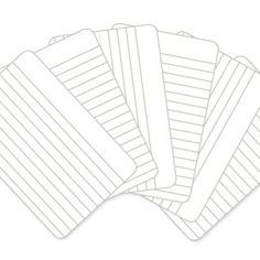 100 - 4″ x 6″ lined cards $8.99
