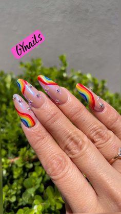 Rave Nails, Swag Nails, Colored Acrylic Nails, Best Acrylic Nails, Gradient Nails, Rainbow Nails, Dope Nail Designs, Rainbow Nail Art Designs, Grunge Nail Art