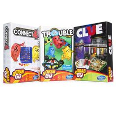 12df964474f Hasbro® grab & go games - monopoly®/clue®/hungry hungry hippos®/connect 4®