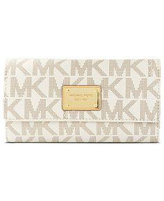 MICHAEL Michael Kors Handbag, MK Logo Checkbook Wallet - Wallets & Wristlets - Handbags & Accessories - Macy's $158
