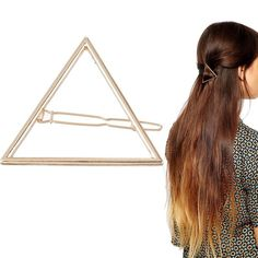 Geometric triangle gold hair pin Brand new with tags✨ metal: alloy✨color: gold✨ as seen on pictureexpect fast shipping  Any questions please ask please check out my other listings✨ 10% off on bundles buy more  save more  Accessories Hair Accessories