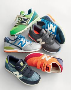 Exclusive New Balance® kicks for crewcuts in custom colors (some glow in the dark!), so you better find a really good hiding place…