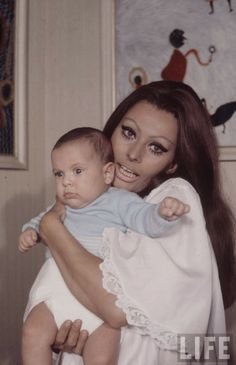 Sophia Loren and Baby, 1969 by Alfred Eisenstaedt