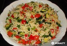 Tarhonya zölségekkel Falafel, Fried Rice, Ethnic Recipes, Food, Red Peppers, Essen, Falafels, Meals, Nasi Goreng