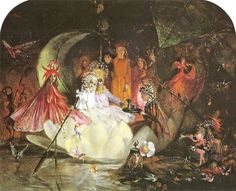 """John Anster Fitzgerald, """"The Fairy's Barque"""""""
