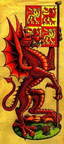 Y Ddraig Goch- Welsh coat of arms inspired by a legend about Merlin.