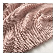 IKEA - INGABRITTA, Throw, pale pink, Soft knitted throw that feels nice against the skin. Cotton is a soft and easy-care natural material that you can machine wash. Pale Pink Bedrooms, Gray Bedroom, Textiles, Bedroom Decor On A Budget, Bedroom Ideas, Design Bedroom, Nursery Ideas, Makeup Products, Manualidades