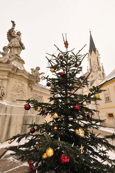 Christmas tree in Melk, Austria