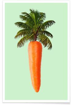 Palm Carrot en Affiche premium par Paul Fuentes   JUNIQE