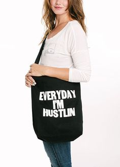 Everyday I'm Hustlin Baggu Duck Bag | Paper Jam Press