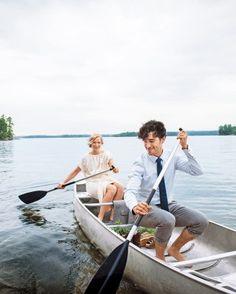 Check out Teresa and Pepin's DIY wedding at a Maine summer camp!