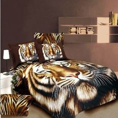 girlsbeddingplus.com - Fabulous Full Face Tiger 4Pc Bed Set, $169.95 FREE SHIPPING WORLDWIDE http://www.girlsbeddingplus.com/Full-Face-Tiger-4Pc-Bed-Set