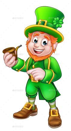 aaaf70882 Leprechaun St Patricks Day Illustration - Objects Vectors Saint Patricks Day  Art, Happy St Patricks