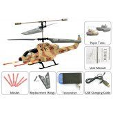 Cobra iHelicopter iPhone/iPad/iPod Touch/Android Phone Controlled RC Helicopter (Desert Camouflage) by China Supply. $108.00. Battery: 3.7V 160mAh Li-Polymer Movement: Left/Right Rotation, Forward/Back, Hover and Land/Missile Launch Control Range: above10 meters 3 Channel Band Selection (A/B/C) Gyro Tilt Control Suitable for all iPhone, iPad and iPod Touch models Suitable for HTC Desire S, HTC Desire HD, HTC Incredible S, HTC Wild Fire, HTC Wild Fire S, HTC Hero, HTC Sensation,...