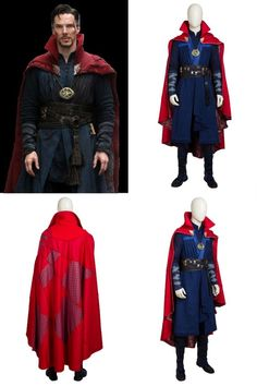 This Doctor Strange Avengers Superhero Cosplay Costume includes cape, long vest, inner shirt, pants, belts, wrist guards, bandages. The shoes and necklace are extra. It is good choice for your Halloween, parties, Marvel lovers and so on. Doctor Strange Avengers, Superhero Cosplay, Avengers Superheroes, Long Vests, Cosplay Costumes, Motorcycle Jacket, Marvel, Halloween Parties, Belts