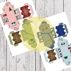Paper Village Advent Calendar Christmas Countdown, Christmas Crafts, Kebab Sticks, Paper Glue, Up House, Fairy Lights, Advent Calendar, Christmas Stockings, Create Your Own