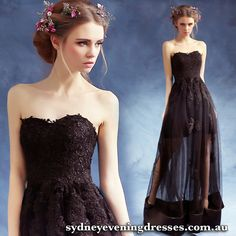 Cheap robe de soiree, Buy Quality lace long evening dress directly from China evening dress Suppliers: YIDINGZS Black Appliques Lace Long Evening Dresses 2018 Sweetheart Fashion Party Robe De Soiree Sexy Dresses, Cheap Formal Dresses, Lace Party Dresses, Formal Gowns, Strapless Dress Formal, Bridesmaid Dresses, Prom Dresses, Dresses 2016, Gold Evening Dresses