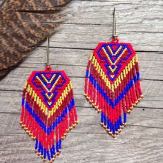 Named after the Hindu mother goddess, these intricately beaded earrings took many hours to create and were made with love, intention, and
