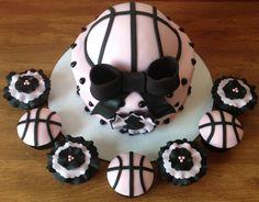 Girly Girl Basketball Birthday Cake