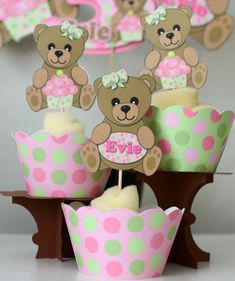 Hey, I found this really awesome Etsy listing at https://www.etsy.com/listing/161875182/teddy-bear-baby-shower-cupcake-toppers