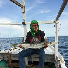 #latepost #throwback #jackpot #strike of #barracuda when #fishing at #makassar #straits #indonesia