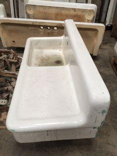 Sink, Fireclay, Drainboard
