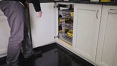 Blind Corner Cabinet Slides All The Way Out For Easy Access To Everything