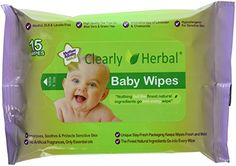 Clearly Herbal 15 count Herbal Baby Wipes ( 12 packs of 15 count = 180 wipes). Baby Wipes Travel Case, Baby Wipe Case, Wipes Case, Baby Wipe Holder, Baby Wipes Container, Baby Wipe Warmer, Mother And Baby, Tea Tree Oil