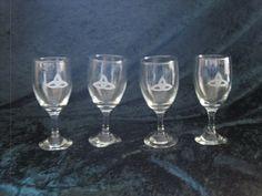 Etched Port glasses