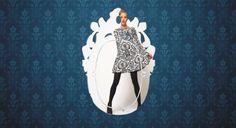 Valérie Bergée design mirrors and Art Clocks with Swarovski elements