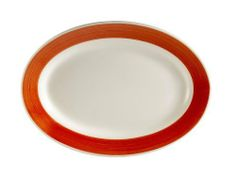 CAC China R-34-RED Rainbow Rolled Edge 9-3/8-Inch by 6-1/4-Inch Red Stoneware Oval Platter, Box of 24 by CAC China. $102.57. Oven, microwave and dishwasher safe. Modern and trendy for hospitality and foodservice industry. Oval, rolled edge fish plate. Durable china, break, chip and scratch resistance in normal use. Stoneware, red. With a long history in the tabletop industry, C.A.C China has been recognized as a trend leader for its innovative patterns and outstanding commercial ...
