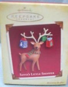 Hallmark Keepsake Ornament Santa's Little Shopper Reindeer 2005 QXG4302