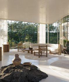 Dream Home Design, My Dream Home, Home Interior Design, Interior And Exterior, Cabinet D Architecture, Interior Architecture, Interior Rendering, Sustainable Architecture, Verre Design