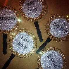 Wedding dress shopping paddles so you can say yes to by glamtastic