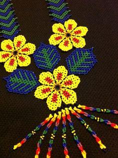 Huichol Peyote Beaded Necklace by HuicholArte on Etsy