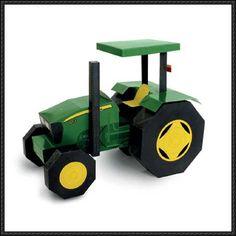 John Deere Tractor Free Paper Model Download - http://www.papercraftsquare.com/john-deere-tractor-free-paper-model-download.html