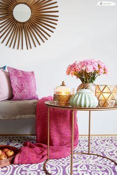 Schon Die Farbkombination Aus Gold Uns Pink Harmoniert Perfekt Und Ist Einfach  Ein. Orientalische ...