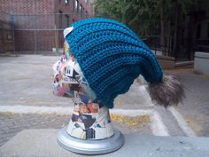Fur Pom Pom Beanie Crochet Hat 31 Colors by AlexCreates on Etsy, $15.00