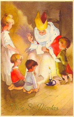 Carte Vive Saint Nicolas (retravaillée avec PhotoFiltre) Holiday Cards, Christmas Cards, St Nicholas Day, Winter Fairy, Kings Day, 12 Days Of Christmas, Fairy Tales, Saints, Seasons